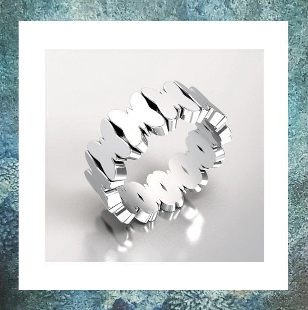Vlinder Asring Zilver met afgesloten asruimte
