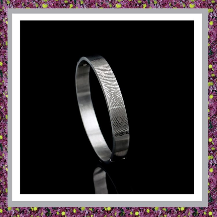 RVS Armband met vingerafdruk L