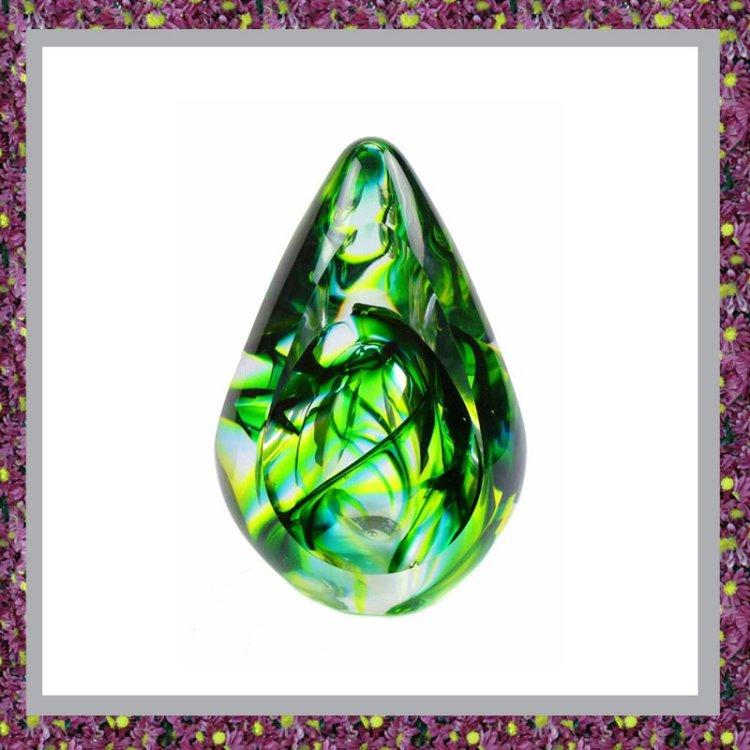 Glasreliek Aurora Groen