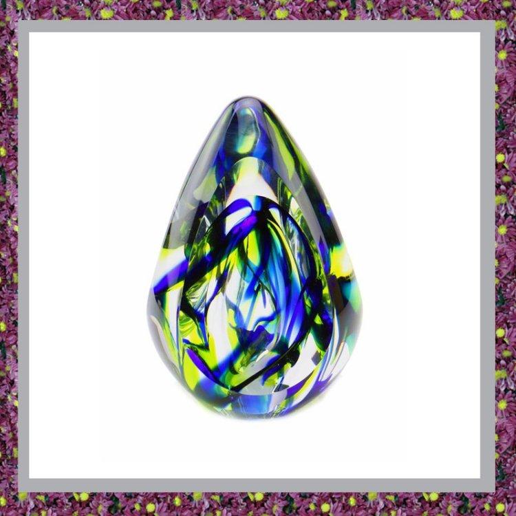 Glasreliek Aurora Blauw