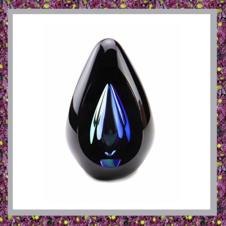 Glasreliek Diamond Black Blue
