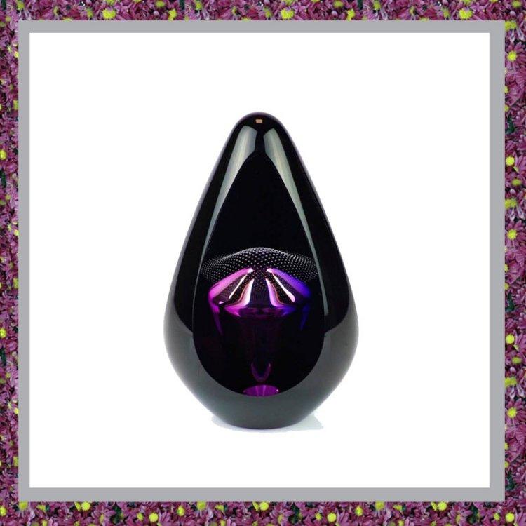 Glasreliek Pandora Black Purple