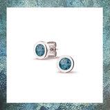 assieraad oorsteker-asstekers dames-as verwerken-oorbellen met as-gedenkoorbellen-oorbellen met asverwerking -haarlok-301SE
