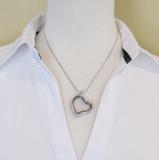 Hart Medaillon van zilverkleurig groot 14_