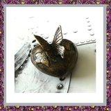 Bronzen Hart met Vlinders_