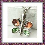 Vlinder met oranje en groen glas 05_