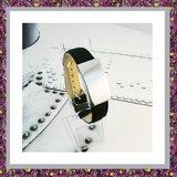 Armband  Leer met zilveren ashouder_