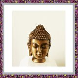 Buddha Hoofd Bronskleur Small_