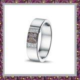 asring-ring met as-ring zilver voor as-damesring voor as