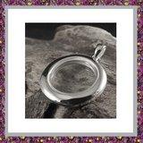 Medaillon Sterling Zilver met glas_