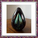 Glasreliek Diamond Black Green_