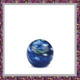 Glasreliek Bol Marble Blue M_