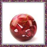 Glasreliek Bol Marble Red M_