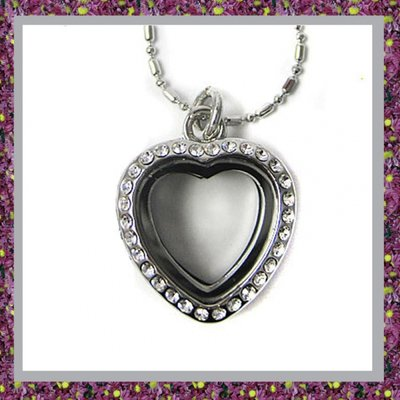Hart Medaillon Mini van zilverkleurig 13