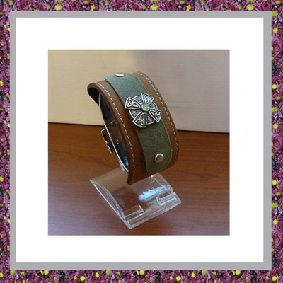 As Armband Leer met Ornamentje 502B