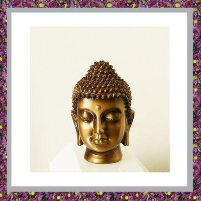 Buddha Hoofd Bronskleur Small