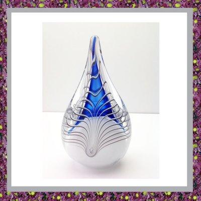 Glasreliek Asdruppel Blauw L