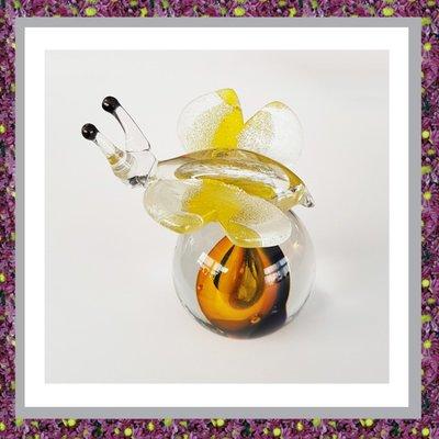 Glasbol Vlinder Oranje
