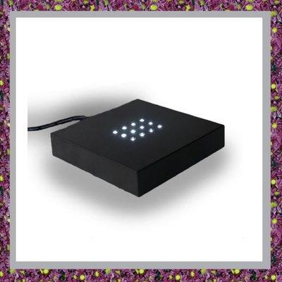 Zwarte kunststof sokkeltje 12 LED