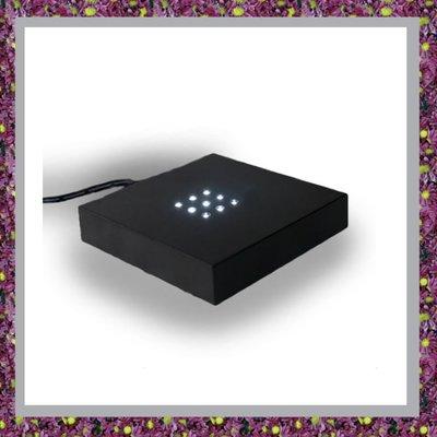 Zwarte kunststof licht sokkeltje 9 LED