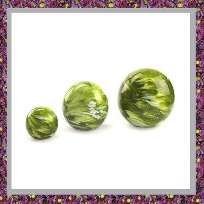 Glasreliek Bol Marble Green M