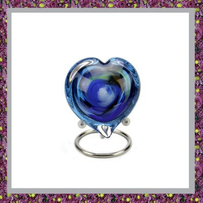 Glasreliek Blauw Multi Color