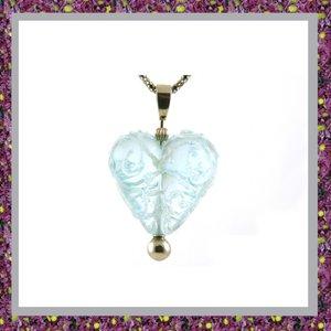 Glasbedel Hart Lichtblauw