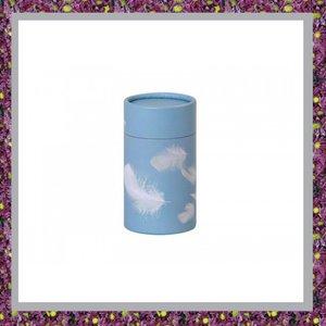 Verstrooibuis of Verstrooikoker Lichtblauw met Veertjes