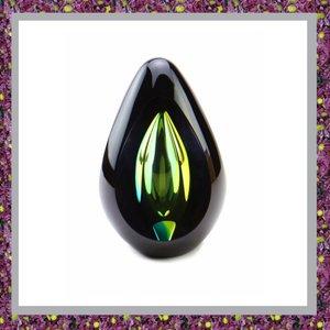 Glasreliek Diamond Black Green